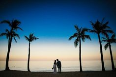 Photo for RamMarcelo #wedding #couple #love #sunset #trees #beach