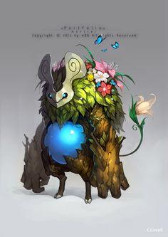 CGwall游戏原画网站_韩风精致游戏原画 - Q版颜色漂亮的树妖