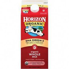 Horizon Organic DHA Whole Milk. Supports brain health, good for Toddlers switching to milk Benefits Of Organic Food, Health Benefits, Natural Farming, Genetically Modified Food, Organic Fruits And Vegetables, Food Insecurity, Healthy Food Options, Big Meals, Eating Organic