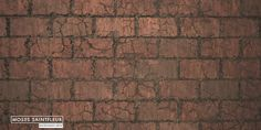 Brick Wall, Moses Saintfleur on ArtStation at https://www.artstation.com/artwork/Byeq6