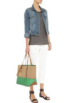Current/ElliottThe Snap embellished stretch-denim jacketfront