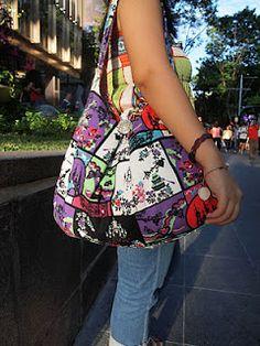 Bag tutorial - really easy to do, must try this one. www.thegoodbags.com MICHAEL Michael Kors Handbag, Jet Set Travel Large Messenger Bag - Shop All -$67