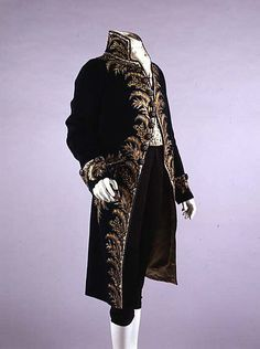 Wool coat with silk and metallic embroidery (for court dress?), French 1809. Metropolitan Museum of Art
