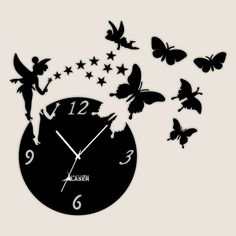 Buy Laser Craft Store Black Acrylic DIY 3D Acrylic engel butterfly star Designer wall clock Stickers Online at Low prices in India on Winsant, India fastest online shopping website. Shop Online for Laser Craft Store Black Acrylic DIY 3D Acrylic engel butterfly star Designer wall clock Stickers only at Winsant.com. COD facility available. Shopping Websites, Online Shopping, English Classroom Decor, Minimalist Wall Clocks, Wall Clock Sticker, Wall Watch, Wall Clock Design, Black Acrylics, Light Project