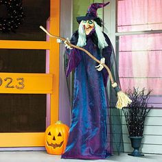 Improvements 6-Foot Animated Standing Halloween Witch