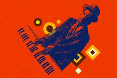 Poster for a jazz concert by grop on Creative Market