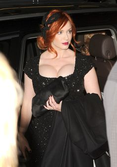 Huge breasted redhead actress Christina Hendricks sported some insane cleavage when she made an appereance at the Ginger & Rosa screening at AFI fest in Hollywood. she needs a beter bra! Christina Hendricks Bikini, Lily Cole, Bright Red Lipstick, Lord, Gorgeous Redhead, Nice Tops, Redheads, Red Hair, Curvy
