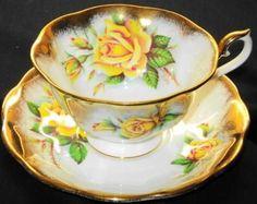 Royal Albert Yellow Rose Elegance Tea cup and saucer Teacup