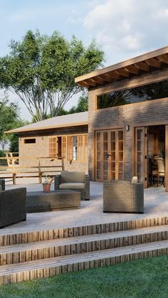 Beautiful House Plans, Modern House Plans, Beautiful Homes, Village House Design, Bungalow House Design, Minimalist House Design, Modern House Design, Prairie Style Houses, Tiny House Cabin