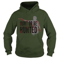 twd fans  hunt or be hunted copy. Funny Zombie Quotes, Sayings T-Shirts, Hoodies, Tees, Clothing, Gifts. #sunfrog