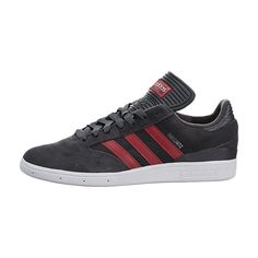 39b93e1fd Adidas Men s Busenitz Trainers Dark Grey   Red