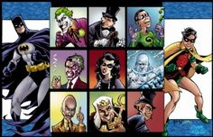 Villains of Batman 66 by Neil Vokes and Smith Comic Art