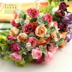 Aliexpress.com : Buy Super Beautiful cream rose artificial flower decoration silk 5 colors 8 10 heads 30cm long for home wedding party decorative from Reliable silk orchid suppliers on Lore 's Decoration Flowers Store. $48.99