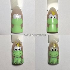 Frog prince step by step accent nail