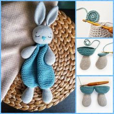Crochet Bunny Lovey Pattern EN & ES, Cute Bunny Rabbit amigurumi Doll, Security Comfort Blanket Toy, gift for newborn (tutorial PDF file) – Page 837458493194099700 – BuzzTMZ Crochet Baby Toys, Crochet Animals, Crochet Dolls, Crocheted Toys, Crochet Bunny Pattern, Crochet Patterns, Amigurumi Patterns, Amigurumi Doll, Cute Bunny