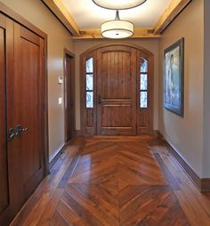Love The Different Sizes Of Wood Boards And The Dark Stain On This Floor. |  Future House | Pinterest | Dark Stains, Woods And Dark  Hardwood Flooring Design Ideas