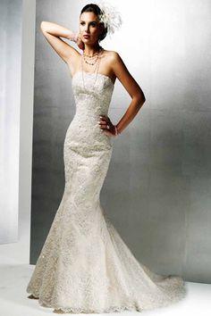 Lace Sweetheart Neckline Mermaid Wedding Dress