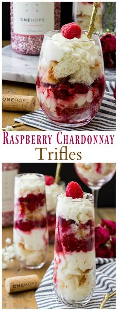 Raspberry Chardonnay Trifles - Sugar Spun Run