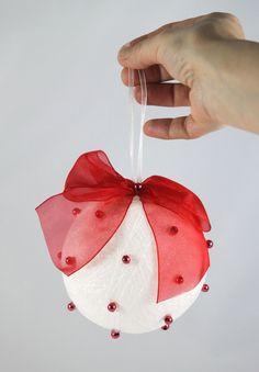 Red Christmas Ball Ornament Holiday