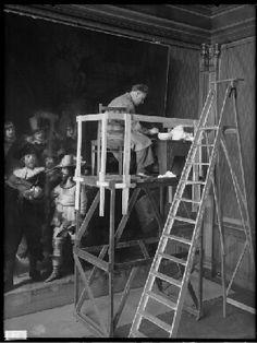 1946 Restoration. Civic guardsmen of Amsterdam under command of Banninck Cocq