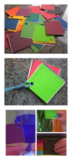 Great for a rainy day - Paint Chip Scavenger Hunt: Find items around the house to match your colors.