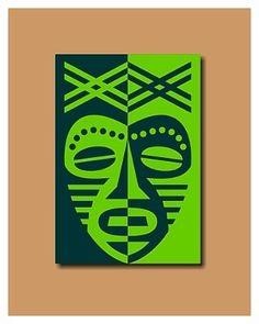 Stap voor stap maken van Afrikaanse maskers - goede uitleg, wel in het Engels