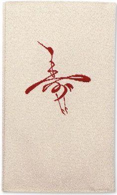 """寿 The Chinese character Shou, meaning """"Long Life"""", in the form of a flying crane, the symbol of longevity in Chinese culture:"""