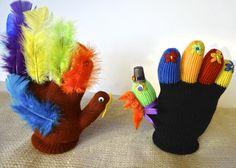 Stuffed Stretch Glove Turkeys by DonnaErickson.com   https://www.facebook.com/pages/Donnas-Day/10150143749885235