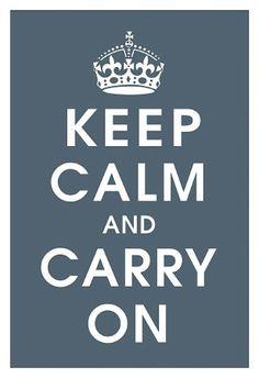 Keep Calm (charcoal) Kunstdruck