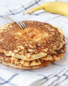 Banankvargpannkakor Breakfast Snacks, Breakfast Recipes, Snack Recipes, Cooking Recipes, Healthy Sweets, Healthy Snacks, Food For The Gods, Pain, Food Inspiration