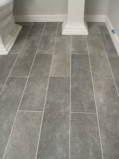 "6"" x 24"" plank tiles are perfect for the bathroom or kitchen"