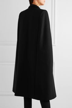 Stella McCartney | Twill-trimmed wool-blend cape | NET-A-PORTER.COM