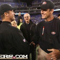 Ravens coach John Harbaugh, and 49ers coach Jim Harbaugh!
