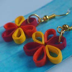 Paper Ear Rings - Flowers on Behance