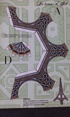 ein eiffelturm zum selberbasteln einfach ausdrucken. Black Bedroom Furniture Sets. Home Design Ideas