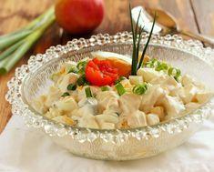 Ha még nincs kedvenc salátarecepted, akkor ez biztosan az lesz!   Még odahaza készült, de itt ol... Salad Dressing, Risotto, Potato Salad, Macaroni And Cheese, Bacon, Soup, Potatoes, Ethnic Recipes, Kitchen