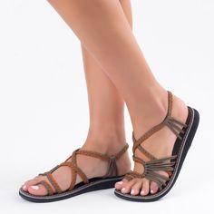 Orange Gray Plaka Palm Leaf Sandals  #handmade #sandals #summer #fashion