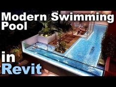 Modern Swimming Pool in Revit Tutorial Sketch Up Architecture, Revit Architecture, Autocad, Building Information Modeling, Civil Engineering, Swimming Pools, Design Programs, Architects, Outdoor Decor
