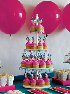 The Baby Head Cupcake Stick Is Just Cutest From Elle Belle Heather Pienkos Birthday Party Ideas For A 1 Year Old
