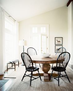 I love Windsor chairs and round wooden tables and subtle decorating and vaulted ceilings...