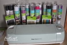 Cricut Explore Air 2: Getting Started and Excited! Cricut sent me this giant box full of supplies, the Cricut Explore Air 2 and access to the Cricut Design Space in exchange for this post and review.