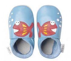 Blue Fishy Bobux USA Soft Soles. This adorable smiling fish will surely make your little one giggle with delight! http://www.bobuxusa.com