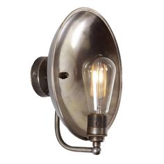 The Cullen dish industrial wall light invokes nostalgia and mixes it with a touch of modernity. It's available in three colour finishes. Industrial Wall Lights, Industrial Chic, Art Deco, Lighting Companies, Bathroom Wall Lights, Bronze, Outdoor Wall Lighting, Messing, Lighting Design