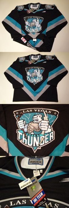 e449270d4 Hockey-Minors 2870: Las Vegas Thunder Authentic Jersey Fight Strap 52 Nwt  Ihl Golden Knights New -> BUY IT NOW ONLY: $279.99 on eBay!