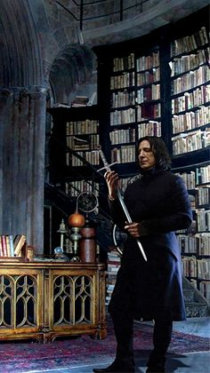 Severus Snape. Moments before taking the Sword of Gryffindor to Harry.