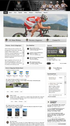 We created a dedicated sport website for Christ's College down in Christchurch!