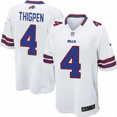 85dcc6841 Buffalo Bills Tyler Thigpen Jersey  4 Elite Nike White Men NFL Jersey Sale  Falcons Julio