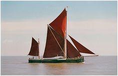 Bowsprit sailing barge Thalatta