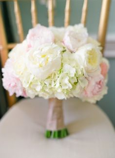 peony and hydrangea bouquet. my two favorite flowers. beautiful.