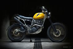 Customized Yamaha XT600 motorcycle by Sartorie Meccaniche of Italy